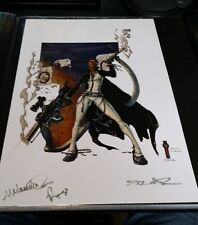 HAND SIGNED PRINT-AUTO/UNKNOWN ARTISTS AND CHARACTER