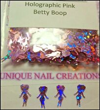 Holographic Pink Betty Boop Spangle ~ Nail Art/Crafts~ USA