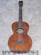 very old all solid historic PARLOR GUITAR Gitarre romantic guitare Germany ~1900