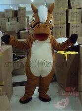 Hallooween Lovely Brown Horse adult  Mascot Costume fancy dress  X'mas Festival