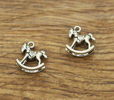 20pcs Rocking Horse Charms Antique Silver Tone New Baby Charms 15x14mm 1639