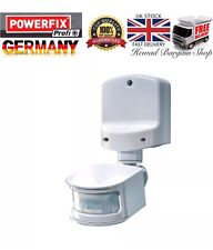 POWERFIX - PIR Motion Sensor for Home & Garden Security ( White )