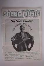 Sheet Music Magazine April/May 1983 Vol 7 No 4 Sir Noel Coward Issue Std Organ