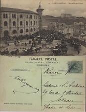 Tarjeta Postal. San Sebastián. Nº 43. Nueva Plaza de Toros. Muy animada.