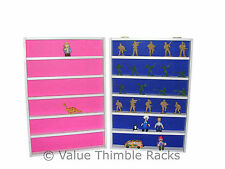 Display rack for kids collectible small toys-lego-mini cars-film characters