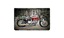 1974 harley davidson ss350 Bike Motorcycle A4 Photo Poster
