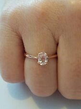 NEW Mawi Kunzite Rose Gold Plated Sterling Silver Size 7