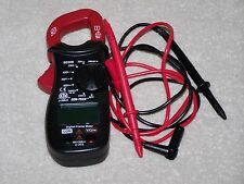 "6 FUNCTION MINI DIGITAL MULTIMETER, With Clamp-on AMPS Test,--W/ 36"" LEADS- NEW."