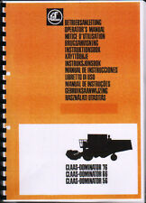 Claas Dominator 76, 66 and 56 Combine Operator Manual