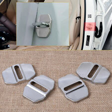 4x Stainless Steel Door Lock Buckle Cover For Mercedes-Benz B C E SLK Chrysler