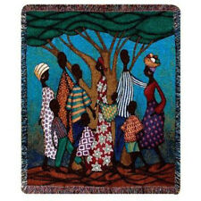 Going to Market ~ African American ~ Black History Tapestry Afghan Throw