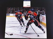 Taylor Hall Oilers Signed Auto 11x14 PHOTO PSA/DNA