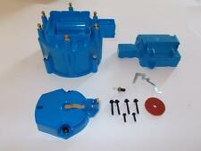 6 CYLINDER HEI Distributor Cap, Coil Cover & Rotor Kit BLUE GM-CHEVY-FORD V6