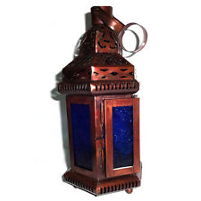 Moroccan Candle Lantern, Blue Glass Hanging Tealight Candle Holder, Home Decors