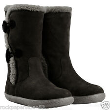 Redfoot Ladies Black Suede Toggle Mid Calf Womens Boots UK 3/Euro 36 RRP £150