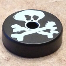 "BLACK ""JOLLY ROGER"" 45 RPM TURNTABLE ADAPTER"
