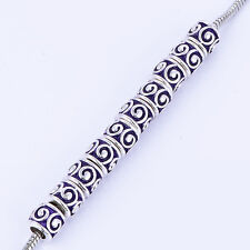 10pcs Enamel fit chain bracelets silver plated charms fit necklace spacers
