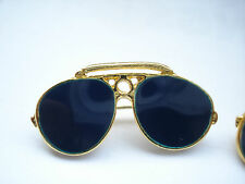 VINTAGE AVIATOR SUNGLASSES RAY-BAN US ARMY AIR FORCE PLANE BROOCH PIN BADGE 99p
