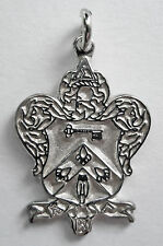 Kappa Kappa Gamma, ΚΚΓ, Crest Pendant Charm In .925 Sterling Silver By McCartney