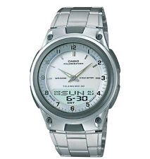 Casio AW80D-7AV, Analog/Digital Combo Watch, 30 Page Databank, Metal Band, Alarm