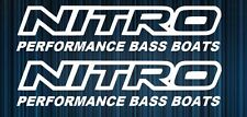 Nitro Performance Bass Boat Decal Sticker Set of 2 Fishing Bass Fishing Tracker