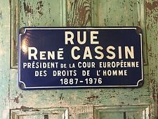 Vintage WW2 French Resistance Old French Blue Enamel Street Road Sign