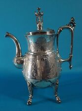Antique 19C Reed & Barton Silver Plated Lion Coffee/Tea Pot Pattern #2608