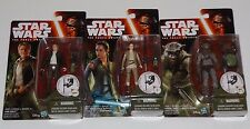 """Star Wars The Force Awakens Rey Resistance Outfit Han Solo Hassk Thug 3.75"""" inch"""