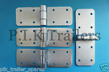 FREE P&P* 4 x Zinc Plated Hinge - 8 hole - 150mm/75mm x 50mm - Trailer