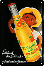 Blechschild Florida Boy Limonade Orange Retro geprägt 20x30 Reklame Vintage 150