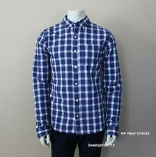 HOLLISTER by Abercrombie MEN`S SHIRT CLASSIC PLAID PC Highway NEW SIZE S,M,L,XL