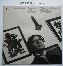 T 830 - MUSSORGSKY - Pictures At An Exhibition LORIN MAZEL - Ex Con LP Record