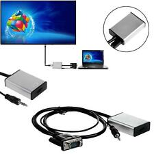 VGA To HDMI Output 1080P HD + Audio TV AV HDTV Video Cable Converter Adapter MT