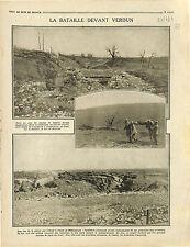 Bataille de Verdun Tranchées Douaumont Fort de Souville Brancardiers 1916 WWI