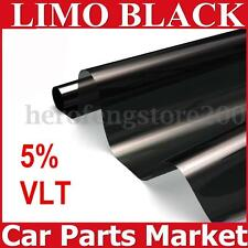 5% Roll 2 PLY Car Window Tint Film Auto Glass House Home Privacy Black 50cmX6m