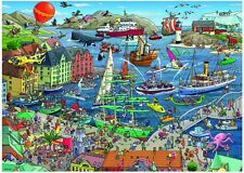 NEW! Heye Seaport by Tanck 1000 piece comic cartoon jigsaw puzzle