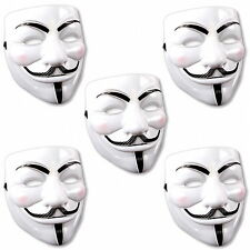 5x V Come Vendetta MASCHERA COSTUME CARNEVALE HALLOWEEN Fawkes Anonymous Occupy Fawkes