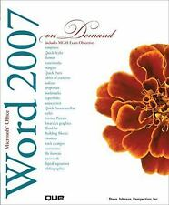 Microsoft Office Word 2007 On Demand-ExLibrary