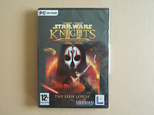 Star Wars Knights of the Old Republic II 2 The Sith Lords PC CD Rom Game Sci-Fi