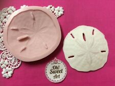 Sand dollar I, sea seashell Silicone Mold Food Cake Decoration soap Cupcake(FDA)