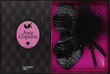 COFFRET JEUX COQUINS  -- LIVRE + ACCESSOIRES             -----    NEUF