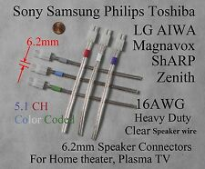 6c 6.2mm 16AWG speaker connectors made for select Sony Samsung LG Philips HT/TV