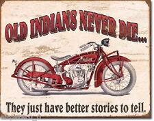 Blechschild 31 x 40, Indian - Better Stories, USA Werbeschild Art. #1637