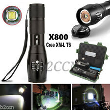 4000LM LED Flashlight Zoomable 5 Modes CREE XML T6 Torch Lamp+18650+Charger+Case