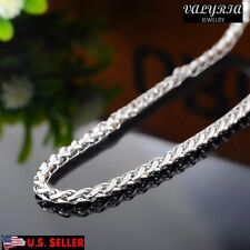 VALYRIA 22.4'' Women's Men's Stainless Steel Foxtail Chain Necklace 3mm Wide