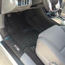 Front Row Floor Mats in Black for 2012 - 2015 Toyota Tacoma Double Cab