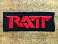 New Ratt Sew On Patch Iron Embroidered Rock Band Heavy Metal Music Logo Badge
