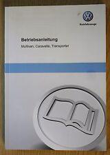 VW MULTIVAN CARAVELLE TRANSPORTER BETRIEBSANLEITUNG FAHRER 2009-2015 PACK 11809