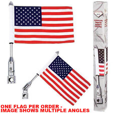 Motorcycle Flag Pole Mount and 6 x 9 Flag American Harley Davidson Luggage Rack