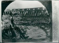 1951 Floor Laid in Rome's Colosseum for Concert Series Original Wirephoto